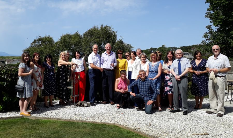 The Black Hay team celebrate David McDowall's retiral